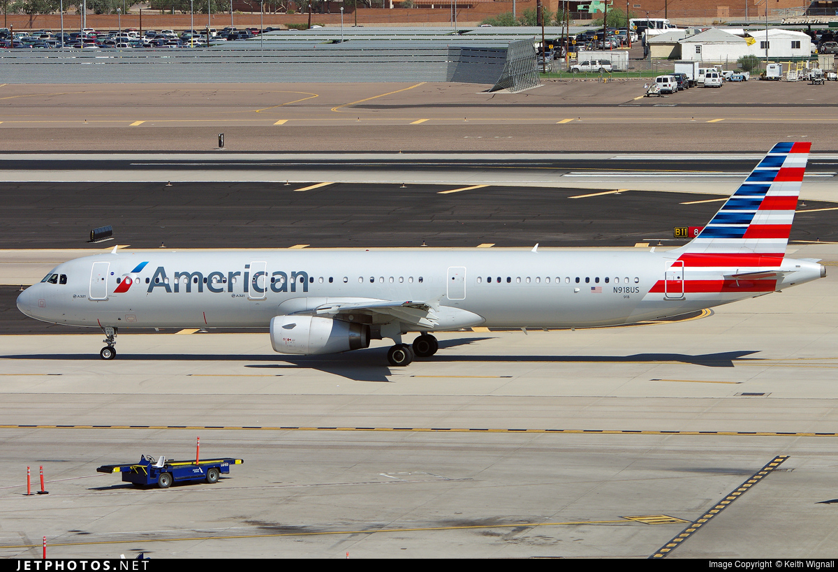 N918US - Airbus A321-231 - American Airlines