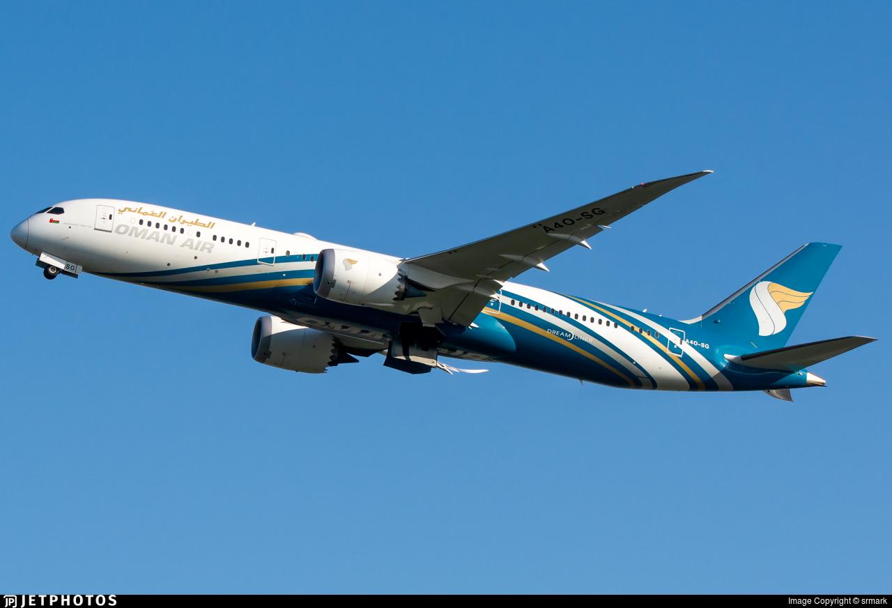 A4O-SG - Boeing 787-9 Dreamliner - Oman Air