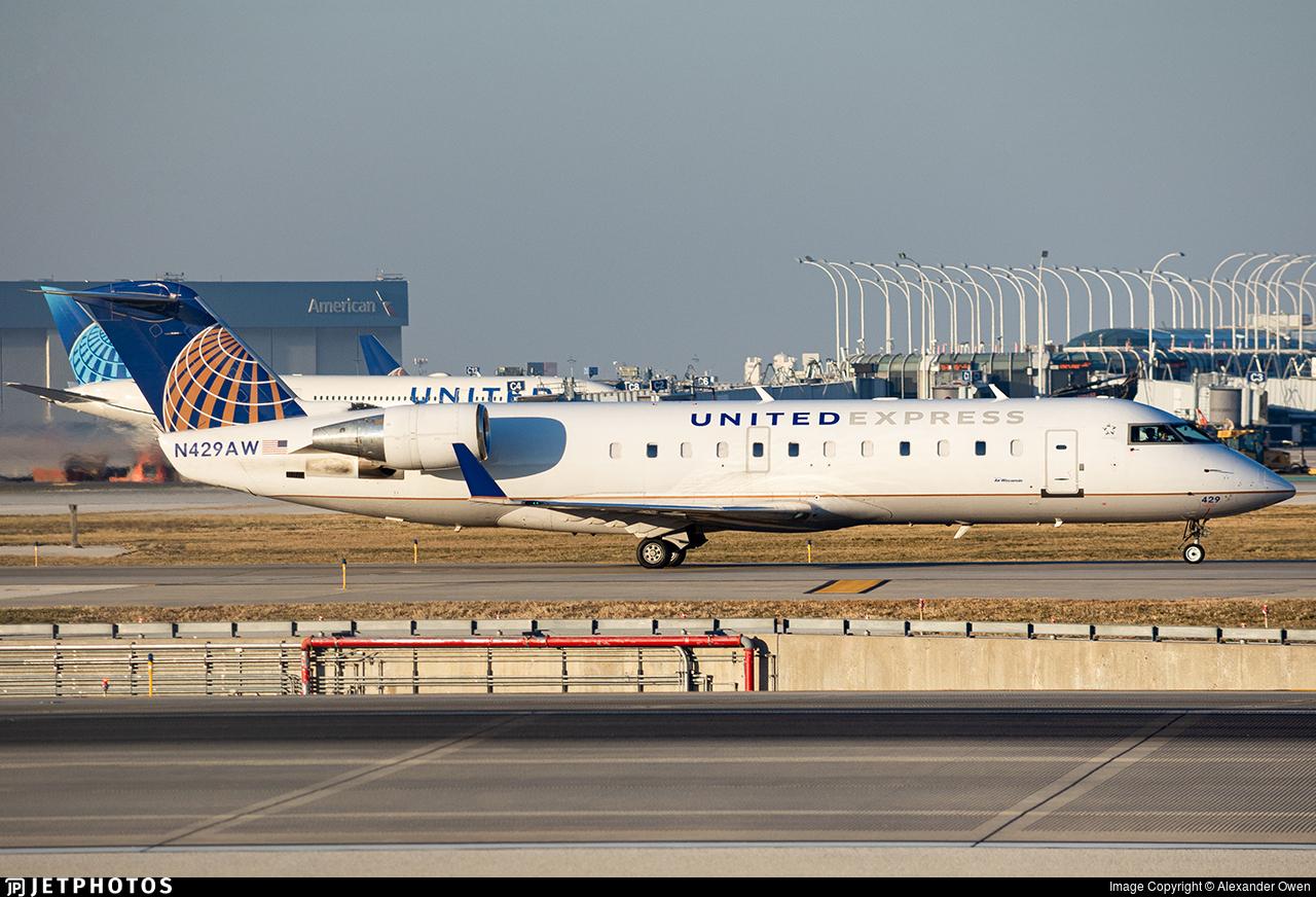 N429AW - Bombardier CRJ-200LR - United Express (Air Wisconsin)