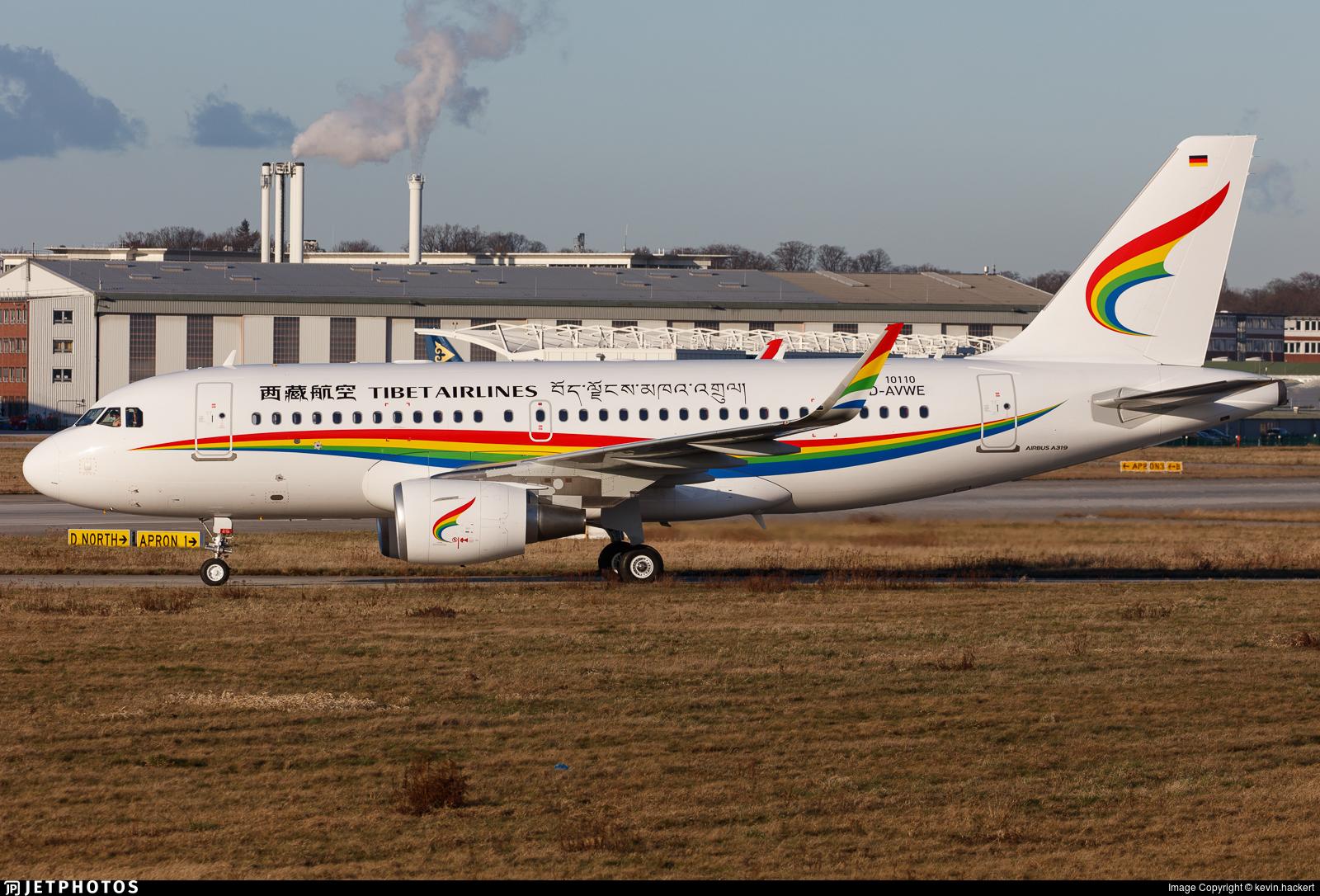 D-AVWE - Airbus A319-115 - Tibet Airlines