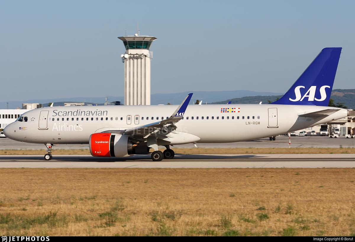 LN-RGM - Airbus A320-251N - Scandinavian Airlines (SAS)