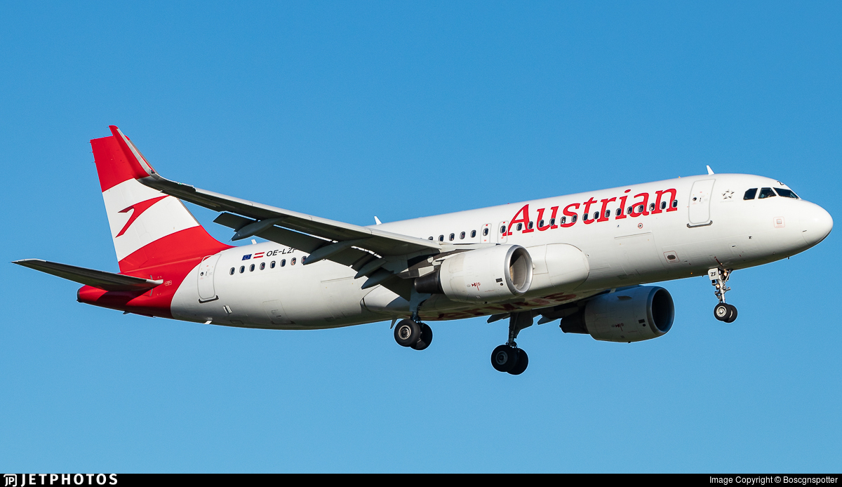 OE-LZF - Airbus A320-214 - Austrian Airlines
