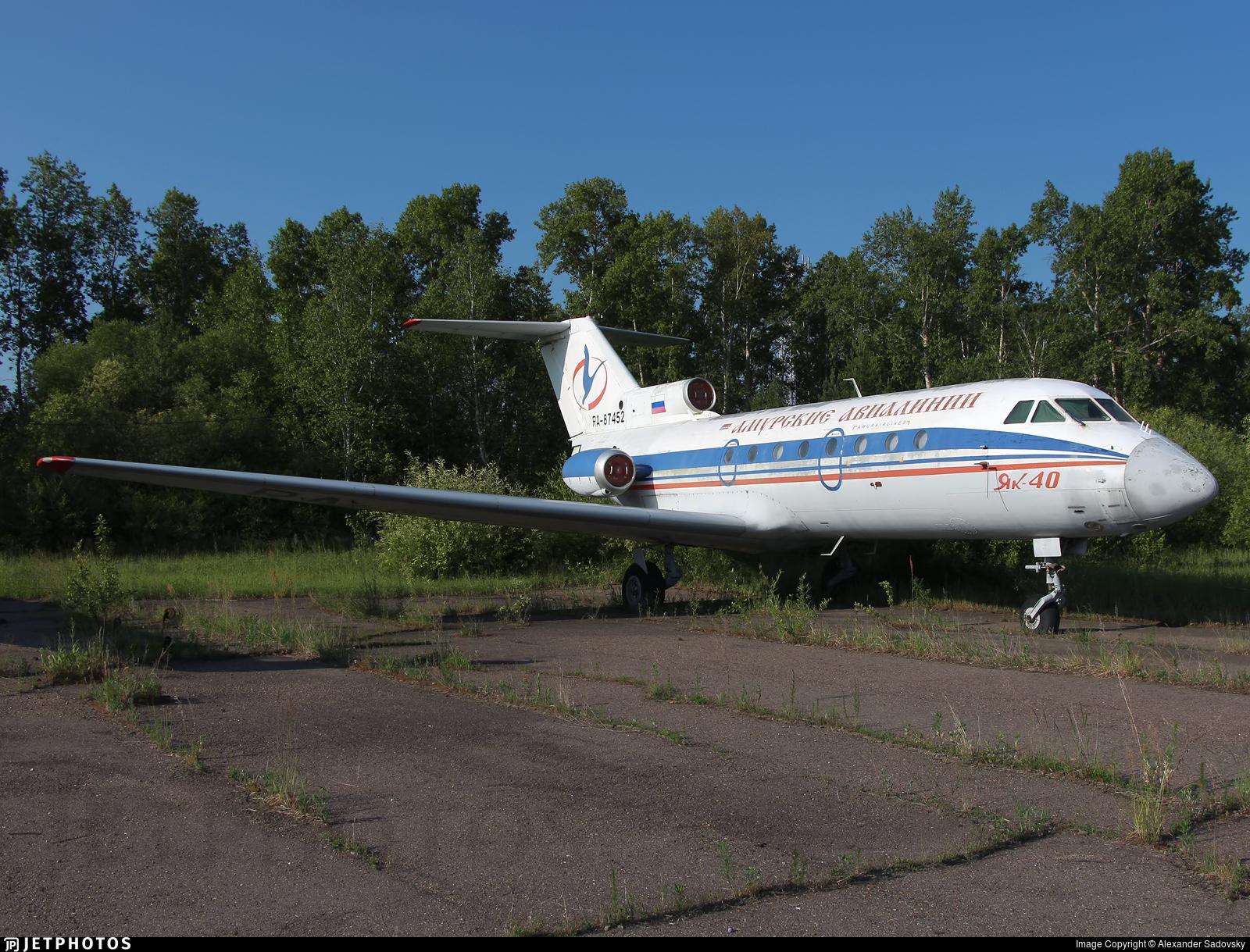 RA-87452 - Yakovlev Yak-40 - Amur Airlines