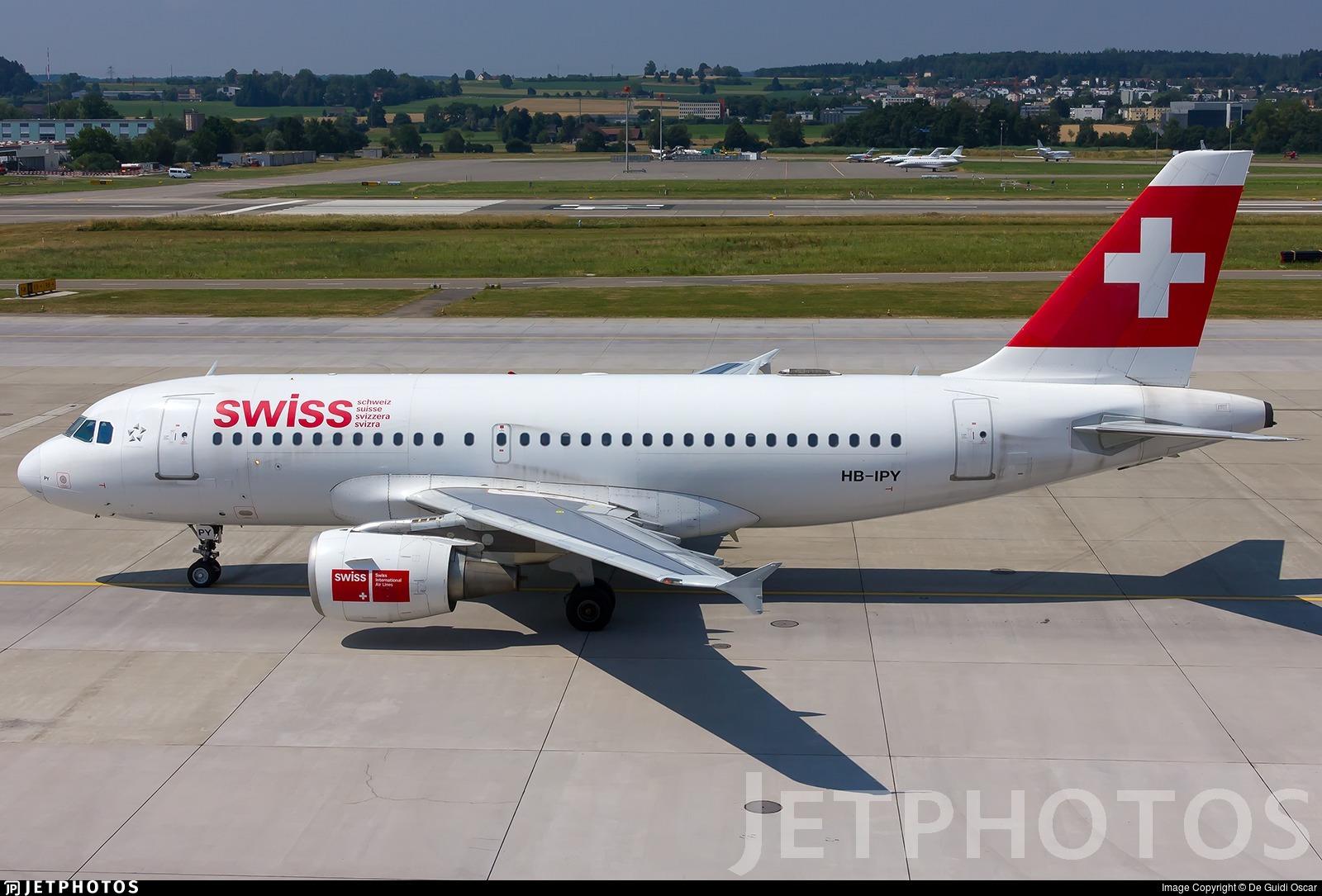 HB-IPY - Airbus A319-112 - Swiss
