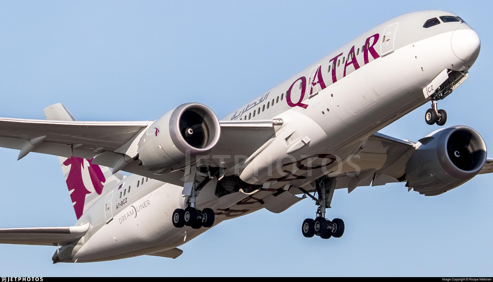 A7-BCZ - Boeing 787-8 Dreamliner - Qatar Airways