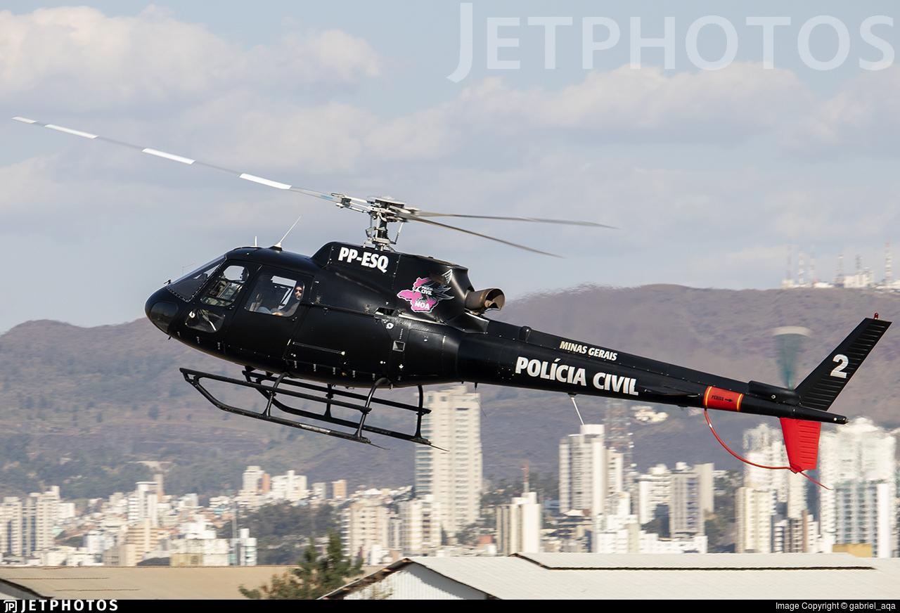 PP-ESQ - Helibrás AS-350B2 Esquilo - Brazil - Policia Civil