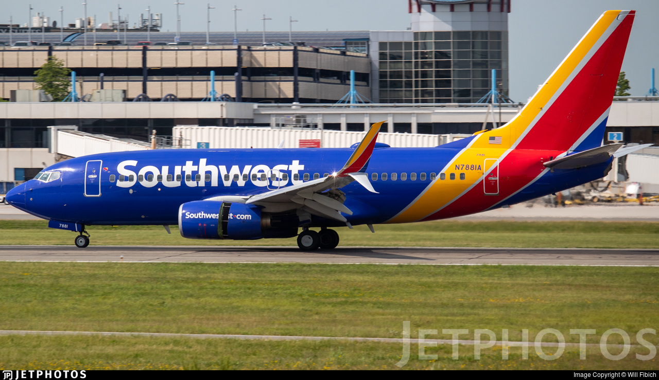 N7881A - Boeing 737-7CT - Southwest Airlines