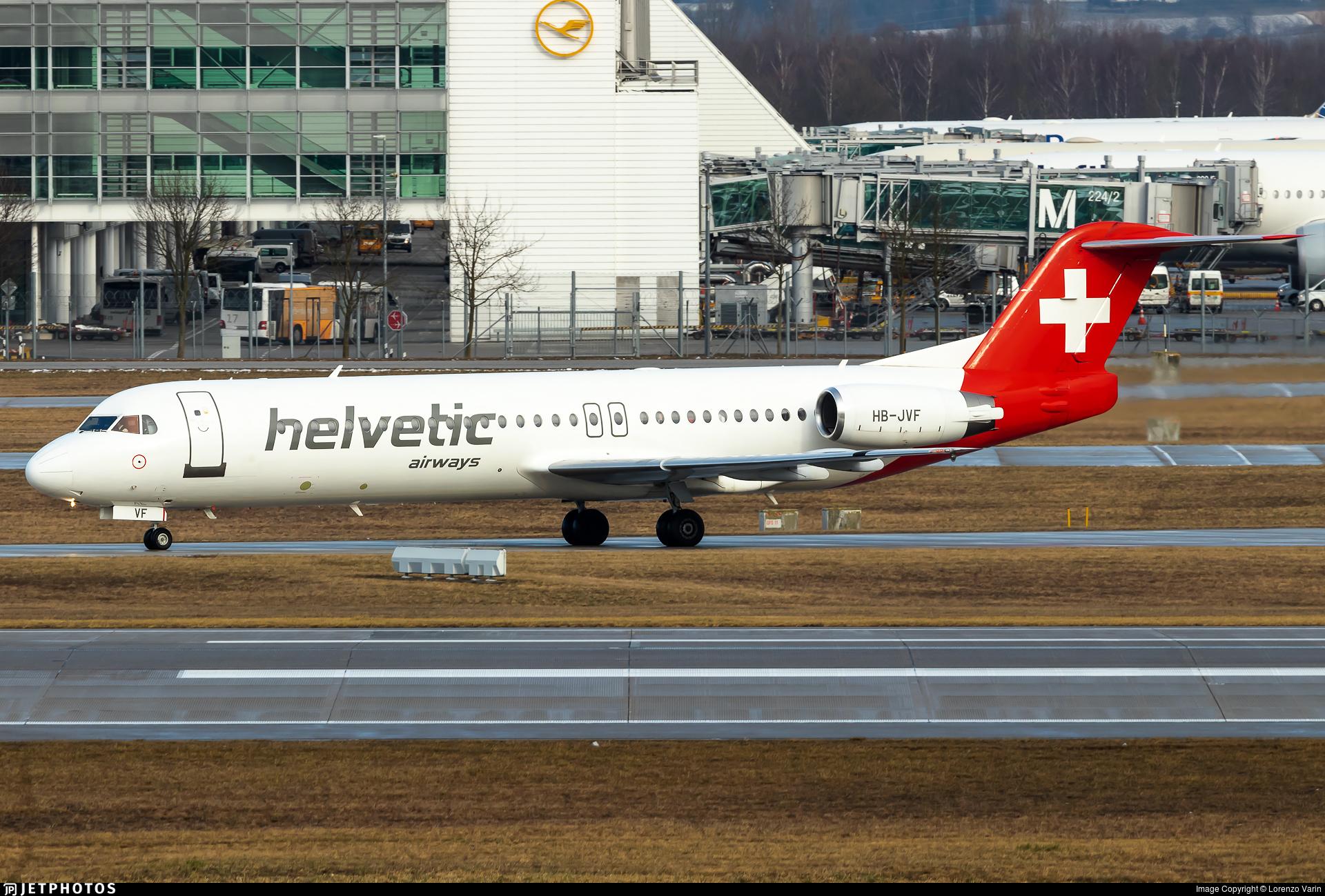 HB-JVF - Fokker 100 - Helvetic Airways