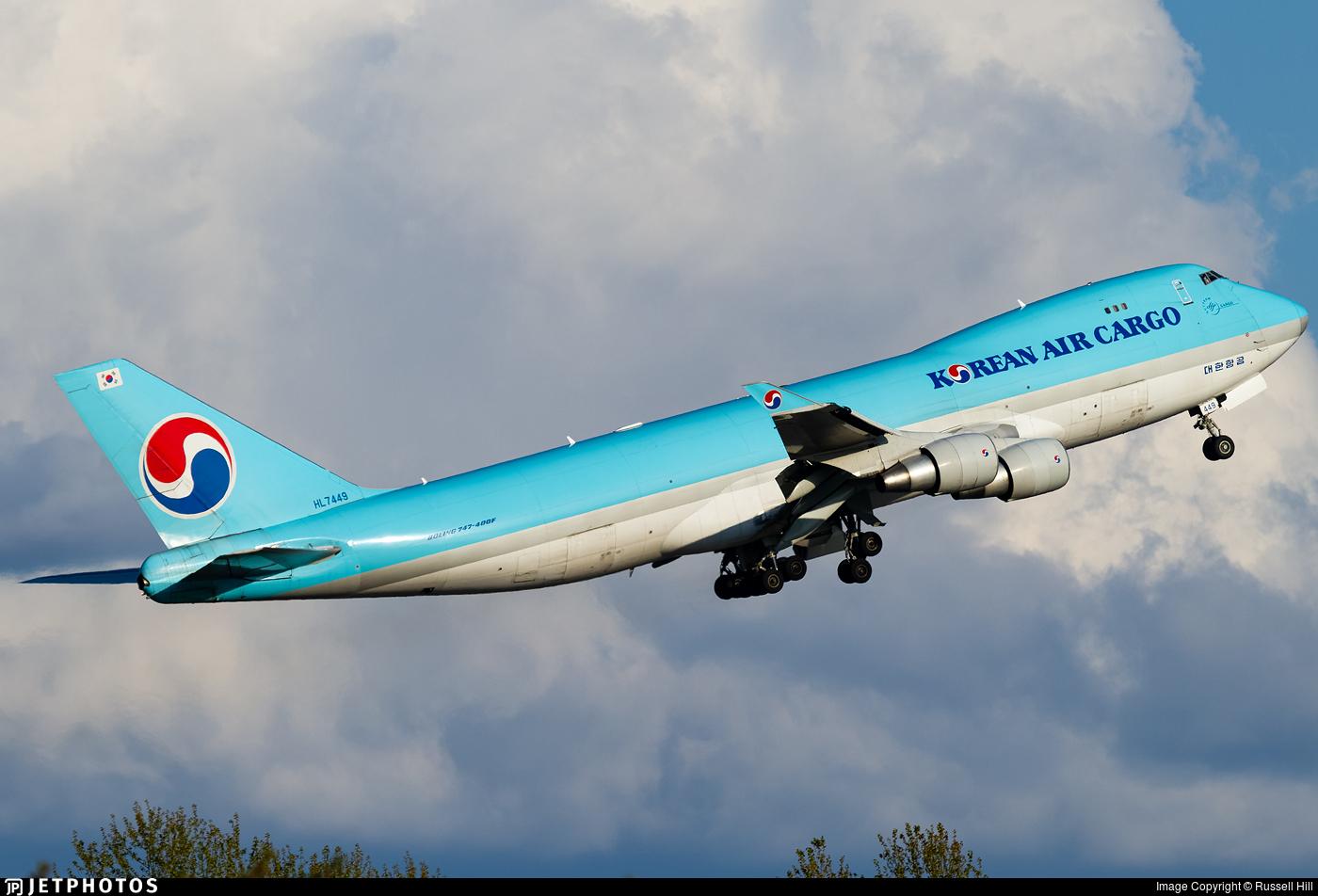 HL7449 - Boeing 747-4B5F(SCD) - Korean Air Cargo