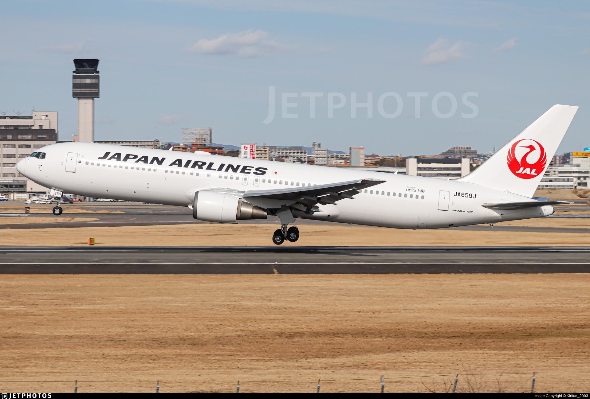 JA659J - Boeing 767-346(ER) - Japan Airlines (JAL)