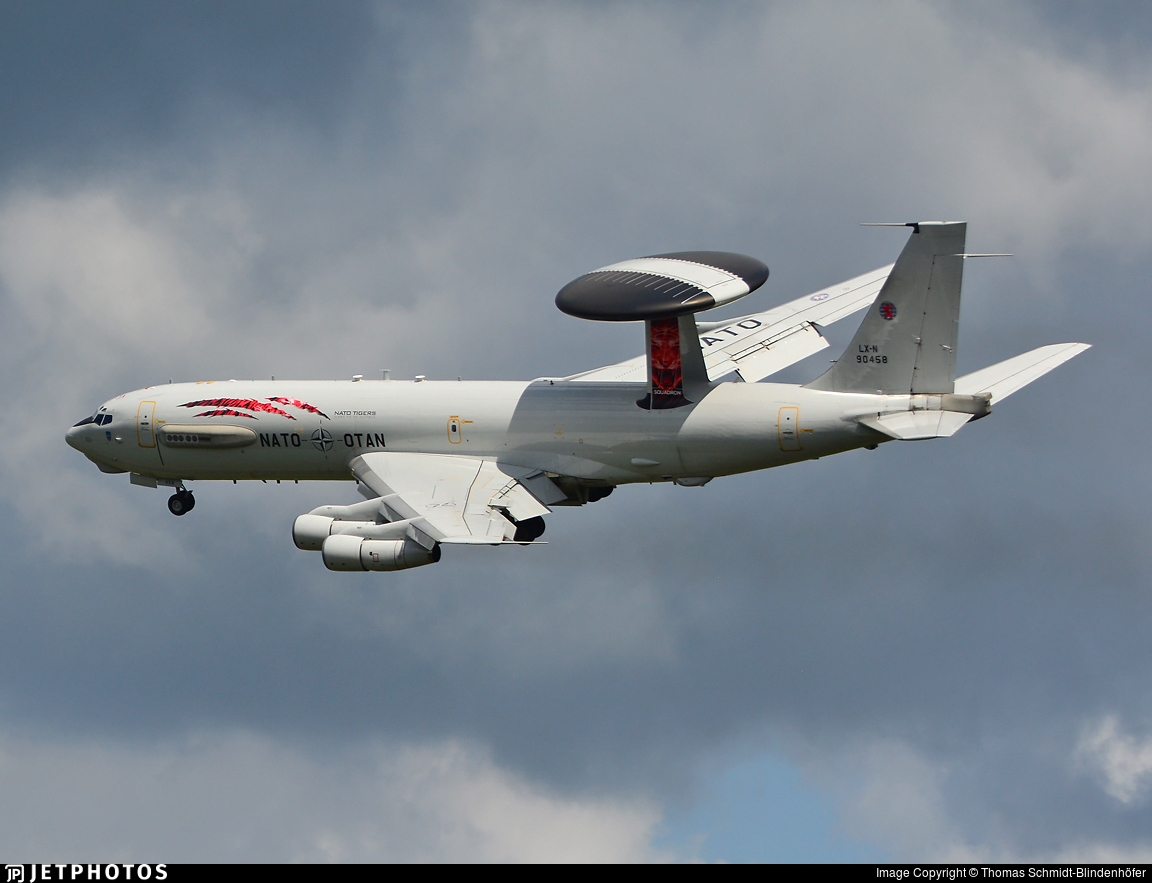 LX-N90458 - Boeing E-3A Sentry - NATO - Airborne Early Warning Force
