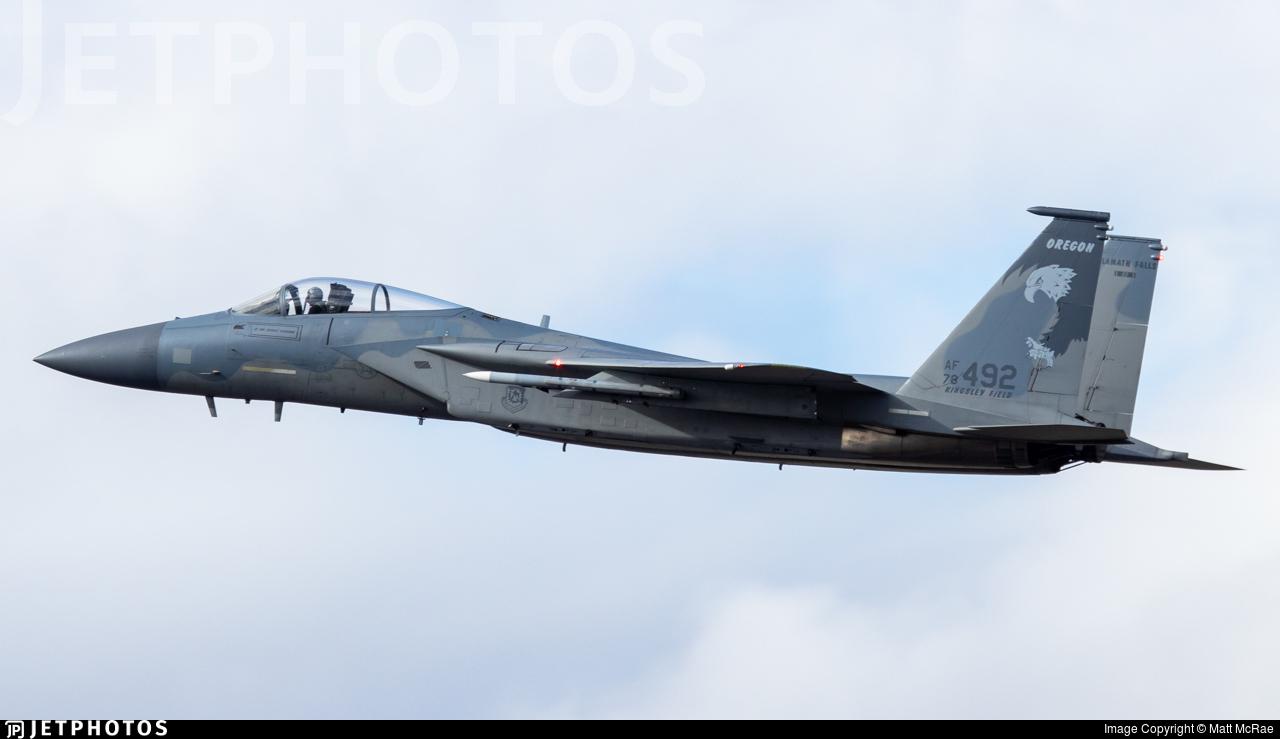 78-0492 - McDonnell Douglas F-15C Eagle - United States - US Air Force (USAF)