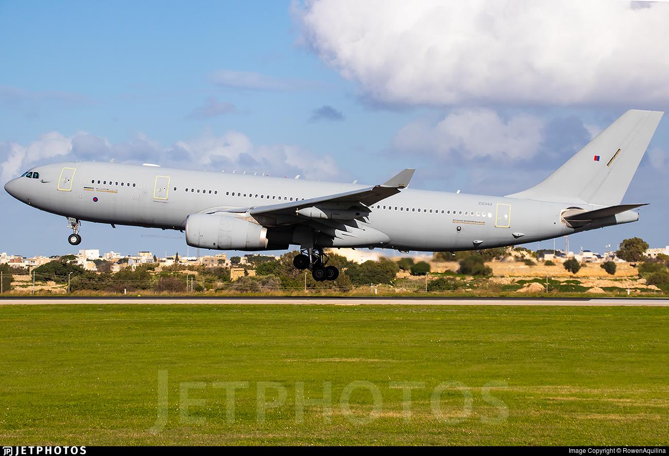 ZZ343 - Airbus A330-243 (MRTT) Voyager KC.2 - United Kingdom - Royal Air Force (RAF)