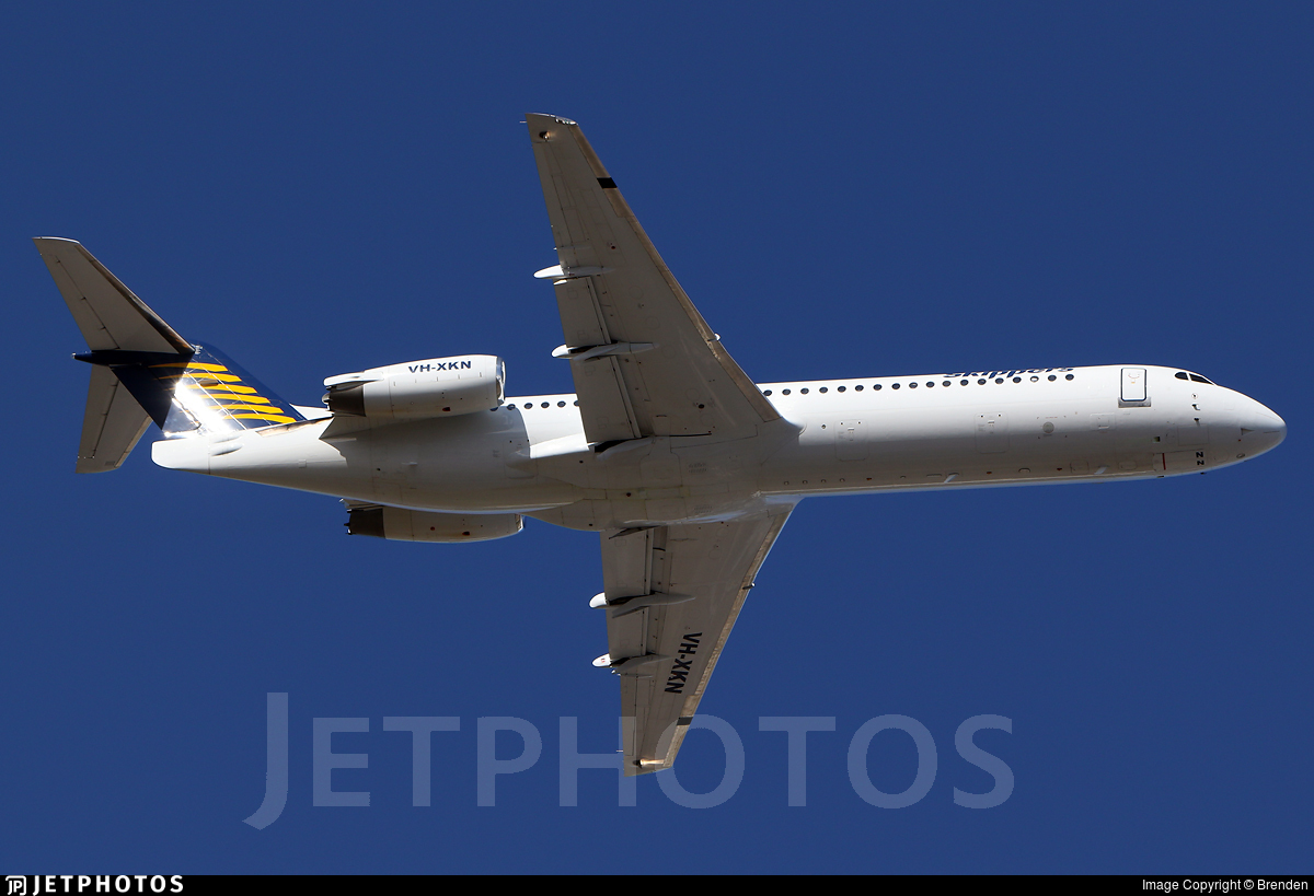 VH-XKN - Fokker 100 - Skippers Aviation