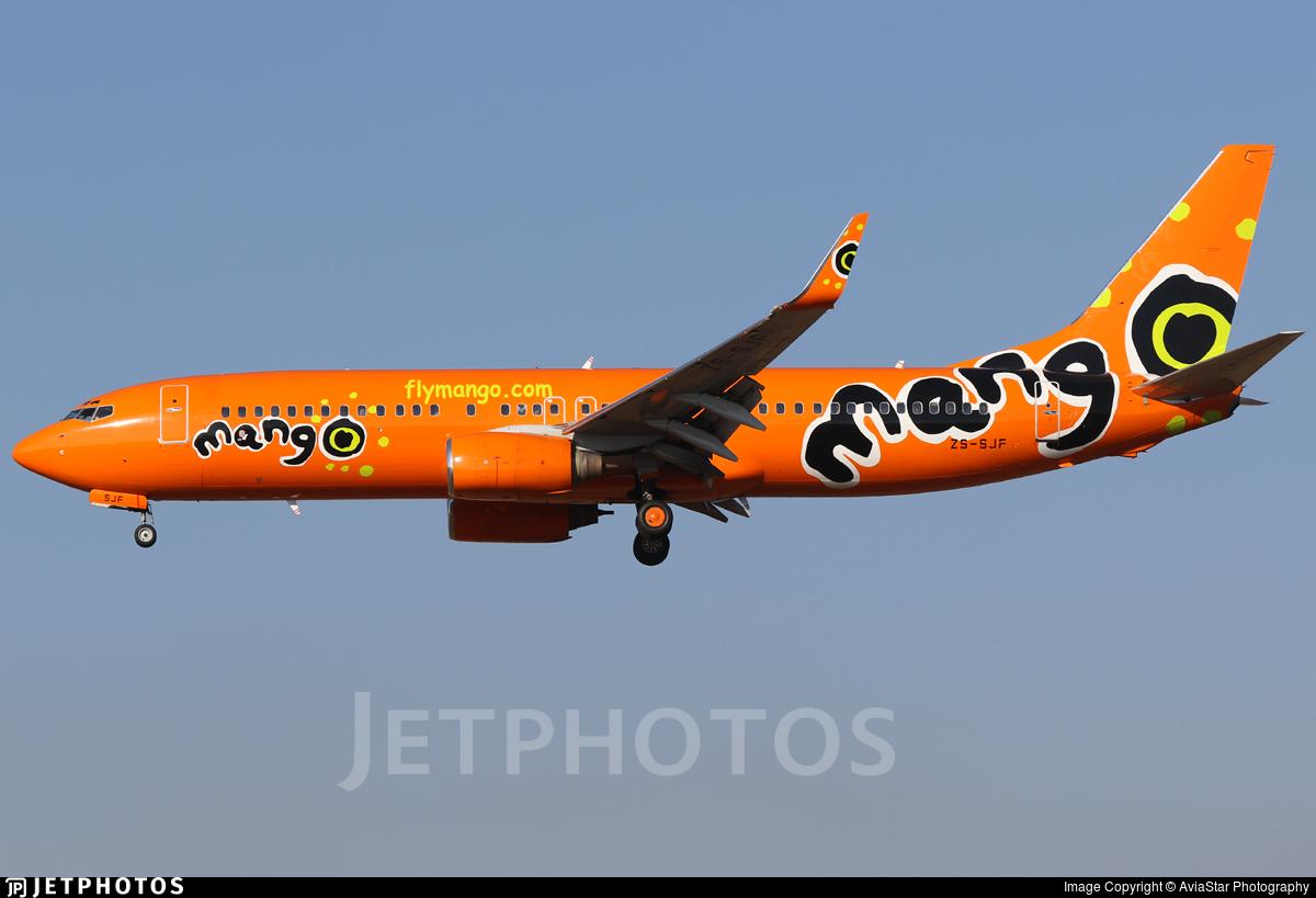 ZS-SJF - Boeing 737-85F - Mango