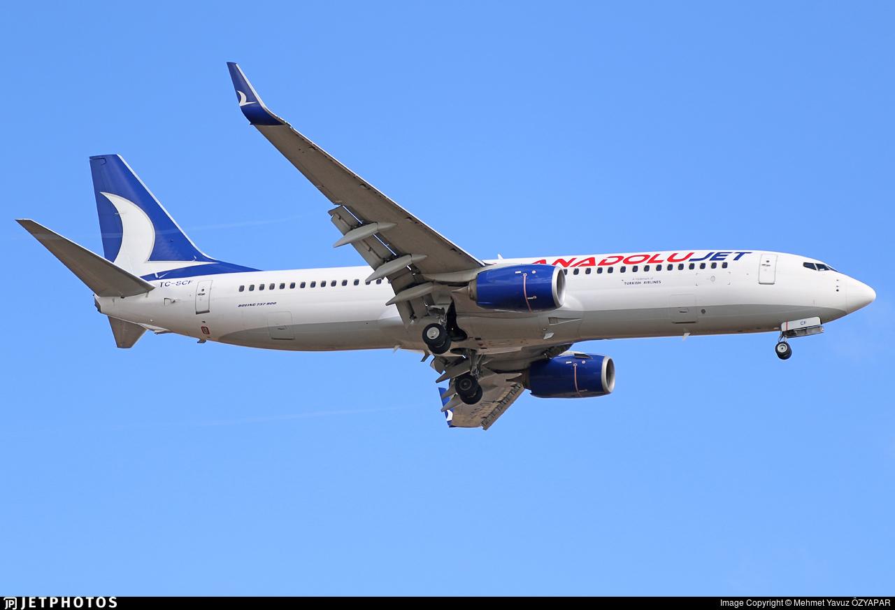 TC-SCF - Boeing 737-8AL - AnadoluJet