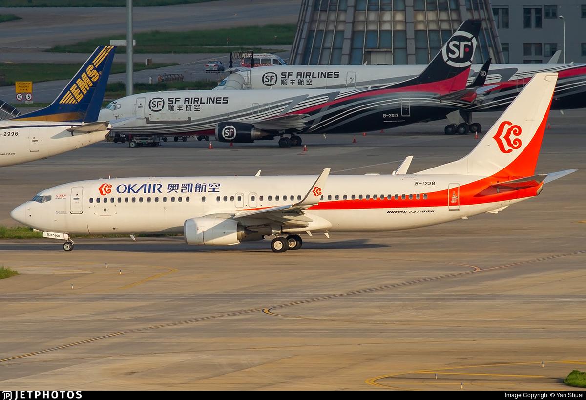 B-1228 - Boeing 737-8KF - OK Air