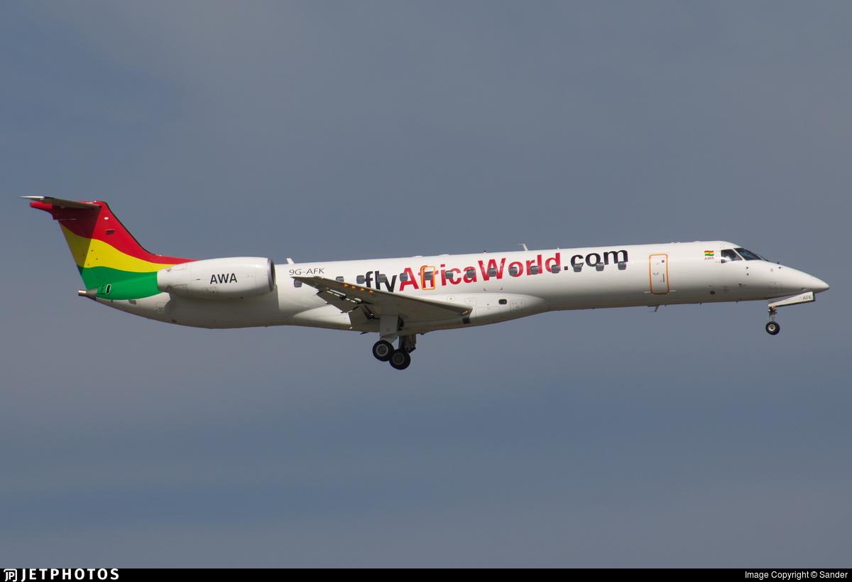 9G-AFK - Embraer ERJ-145LI - Africa World Airlines