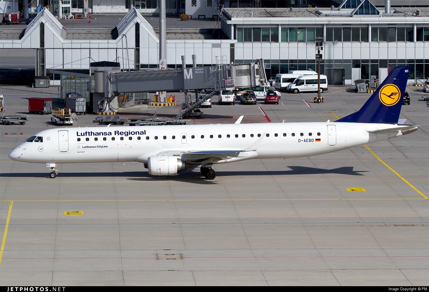 D-AEBD - Embraer 190-200LR - Lufthansa Regional (CityLine)