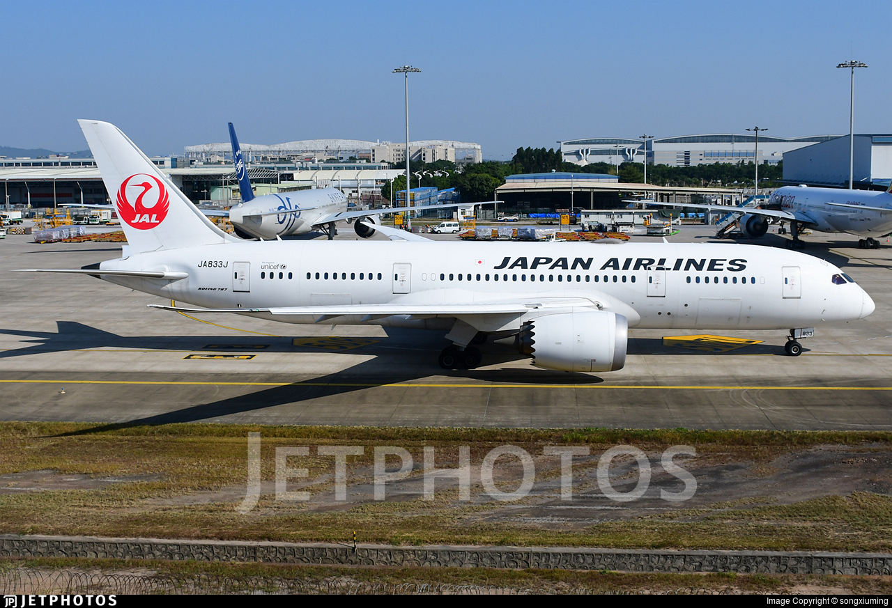 JA833J - Boeing 787-8 Dreamliner - Japan Airlines (JAL)