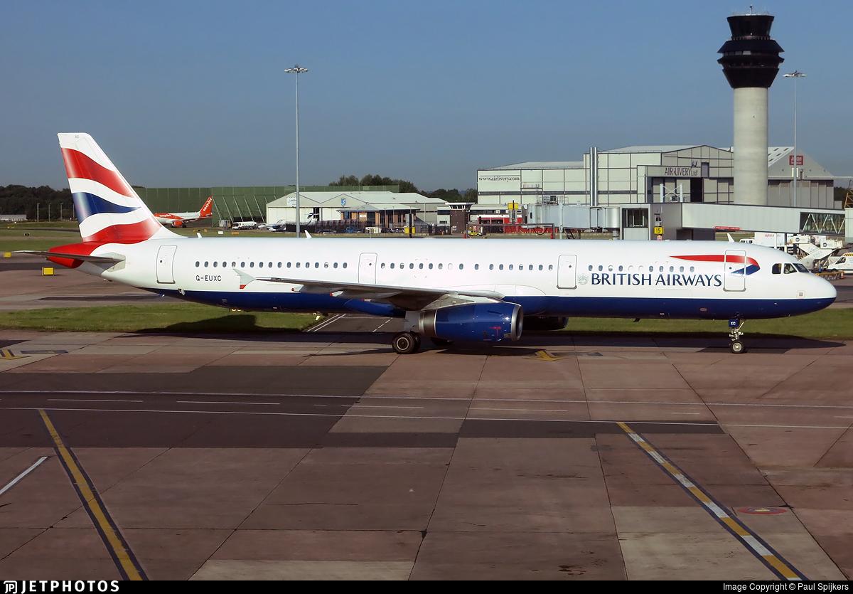G-EUXC - Airbus A321-231 - British Airways