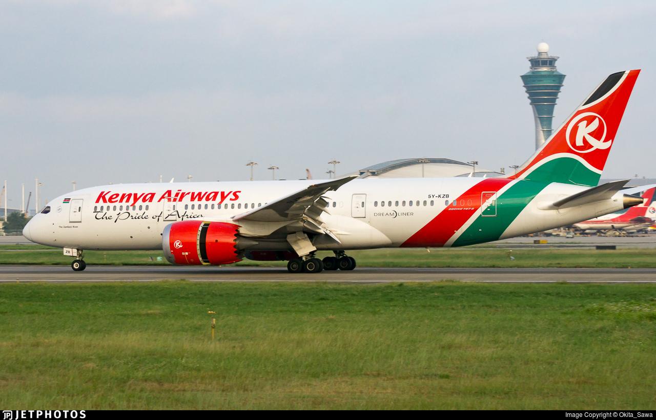 5Y-KZB - Boeing 787-8 Dreamliner - Kenya Airways