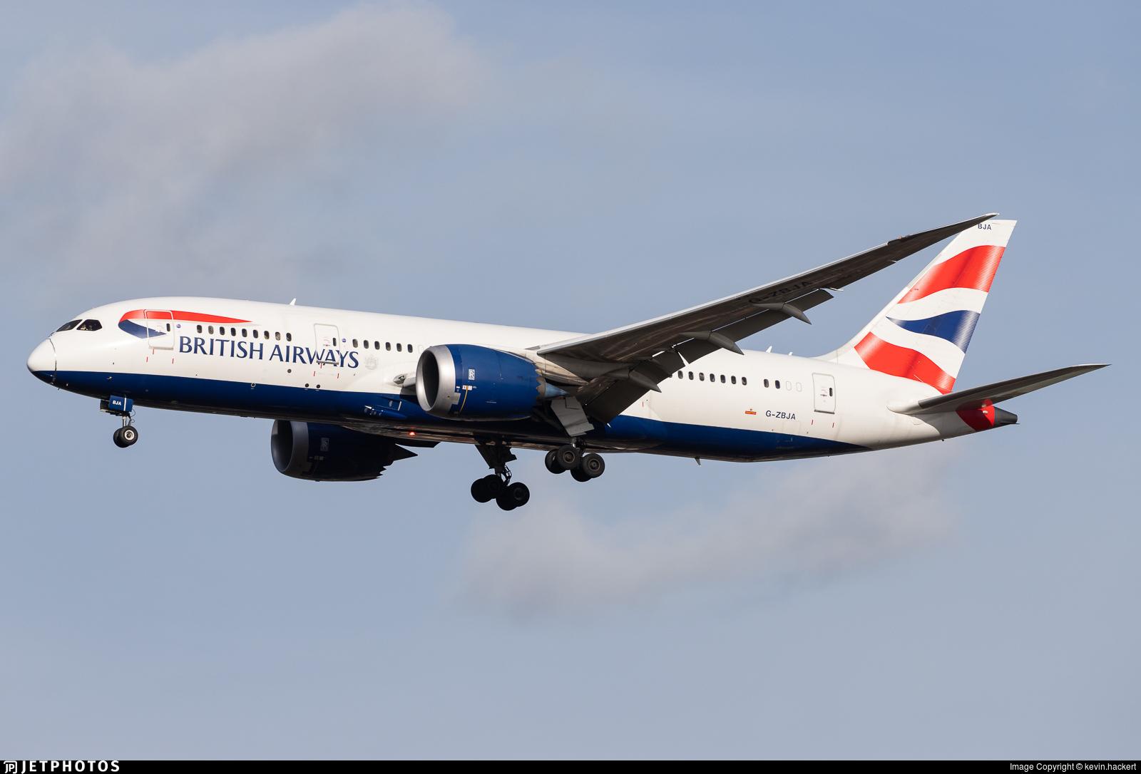 G-ZBJA - Boeing 787-8 Dreamliner - British Airways