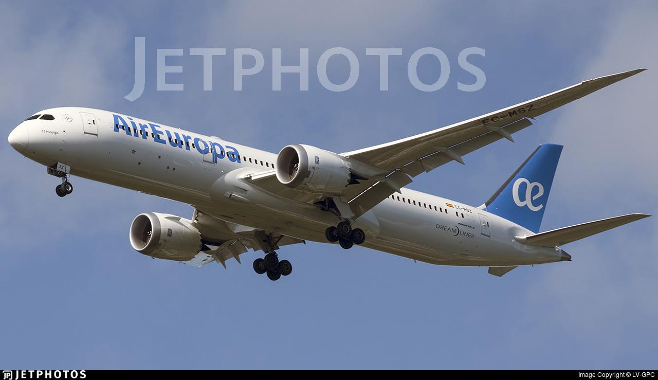 EC-MSZ - Boeing 787-9 Dreamliner - Air Europa