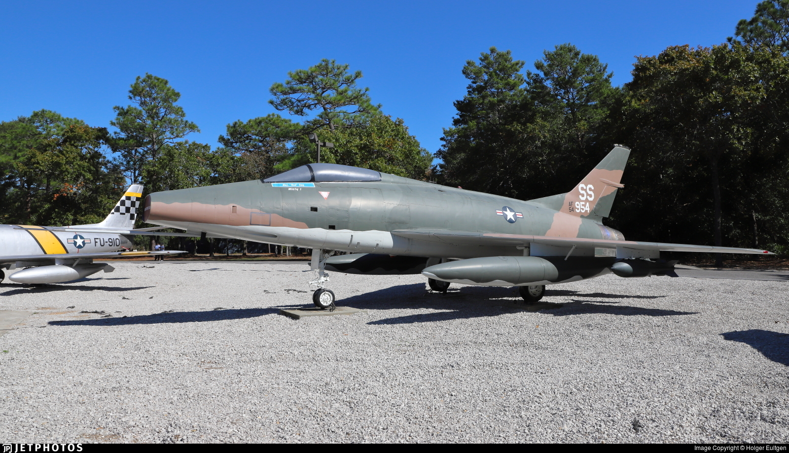 54-1954 - North American F-100C Super Sabre - United States - US Air Force (USAF)