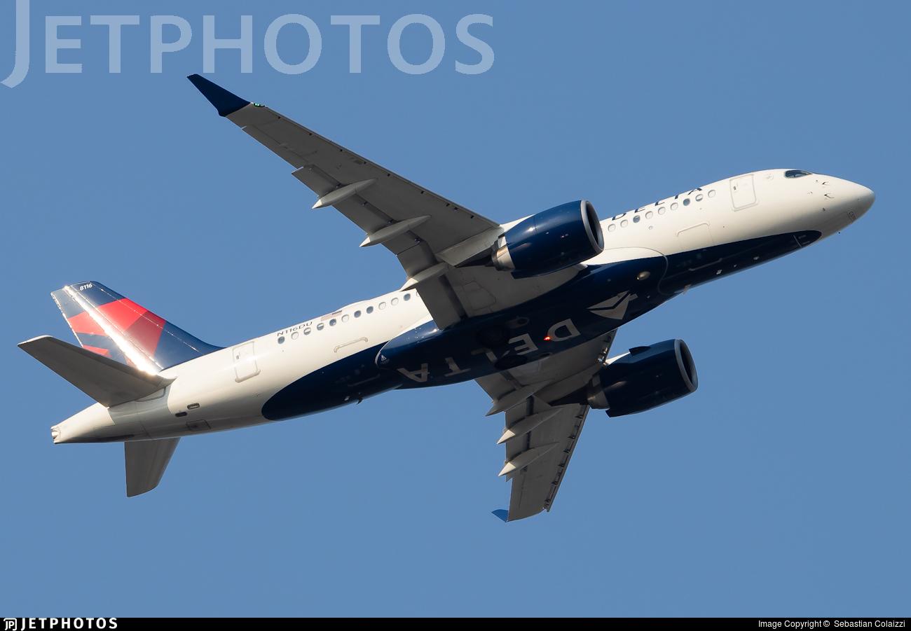N116DU - Bombardier CSeries CS100  - Delta Air Lines