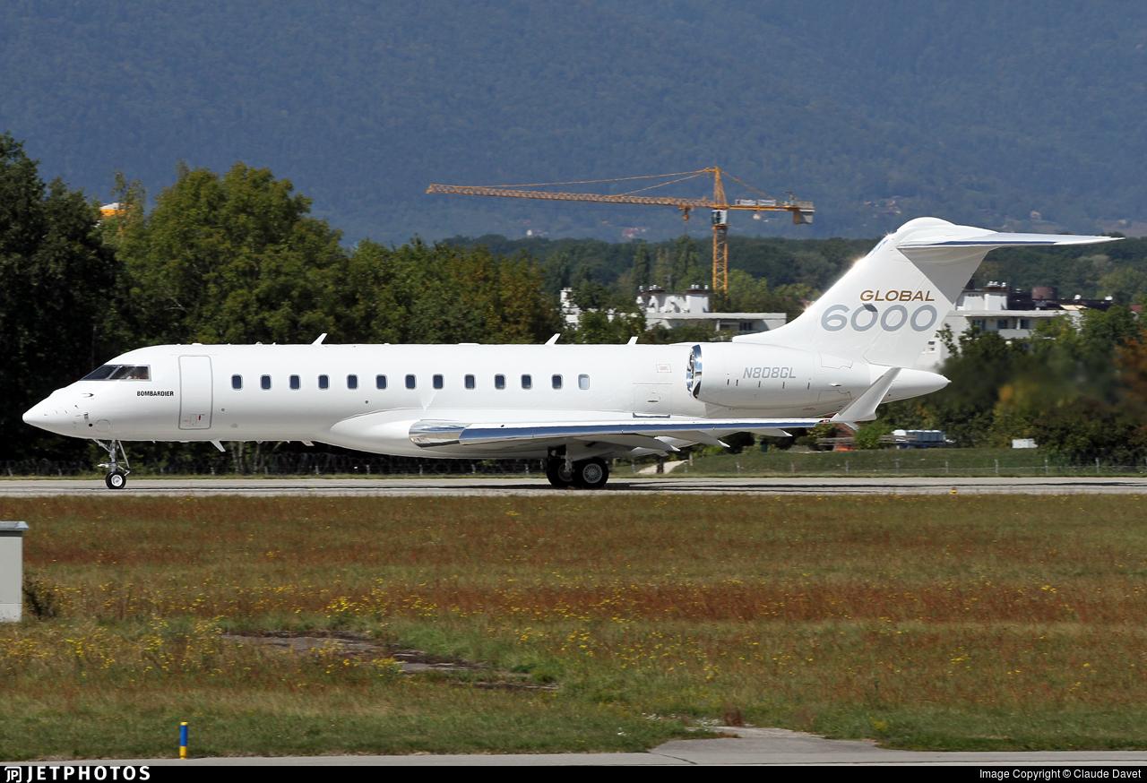 N808GL - Bombardier BD-700-1A10 Global 6000 - Global Flight