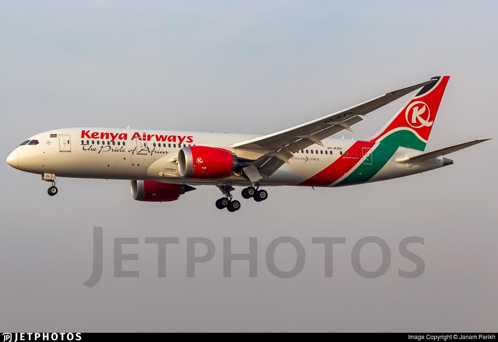 5Y-KZH - Boeing 787-8 Dreamliner - Kenya Airways
