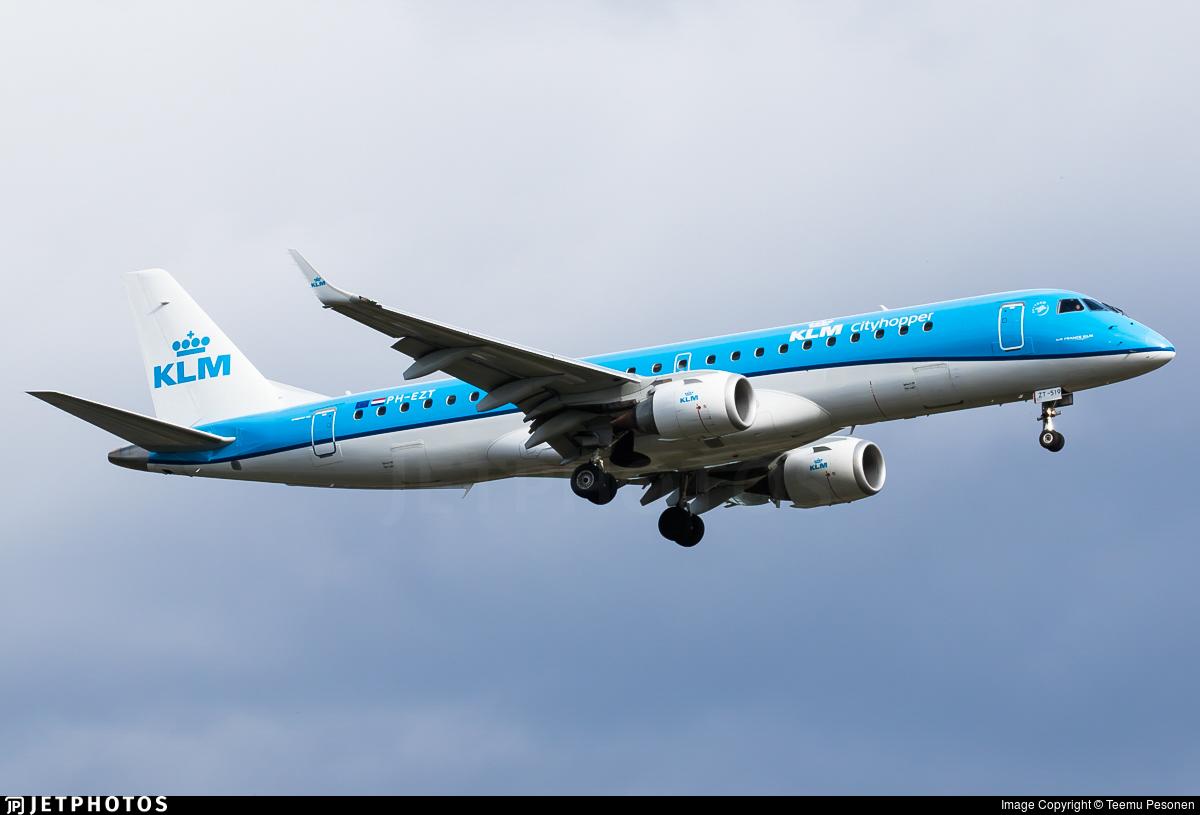 PH-EZT - Embraer 190-100STD - KLM Cityhopper