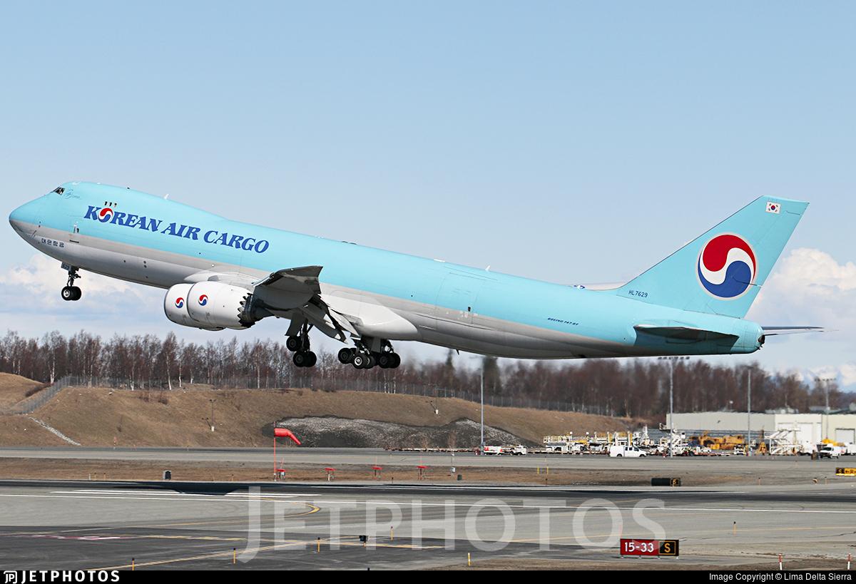 HL7629 - Boeing 747-8B5F - Korean Air Cargo