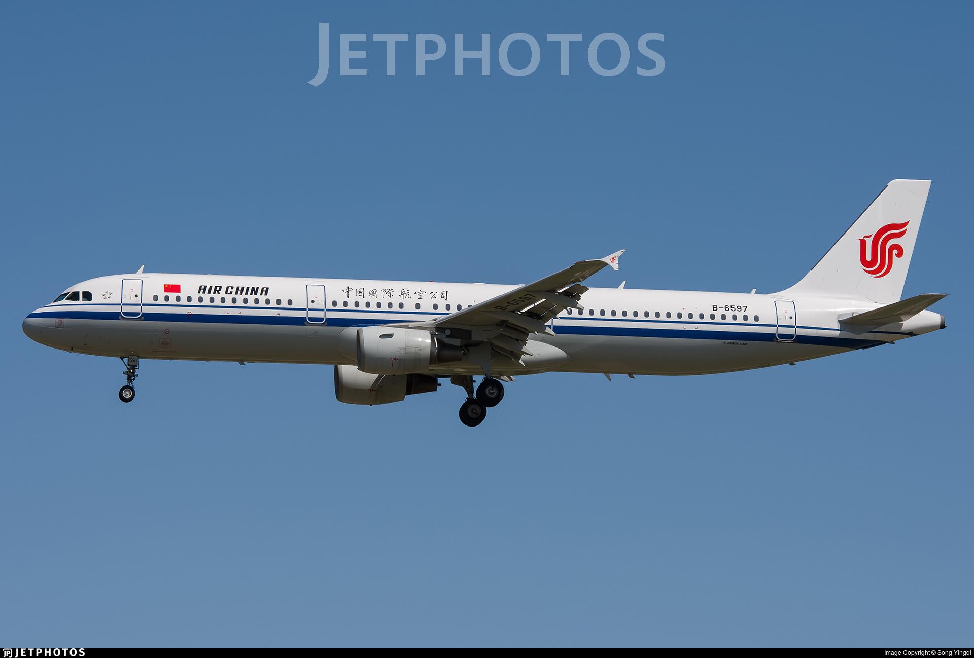 B-6597 - Airbus A321-213 - Air China