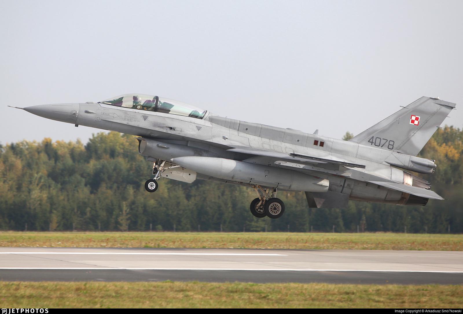 4078 - Lockheed Martin F-16D Fighting Falcon - Poland - Air Force