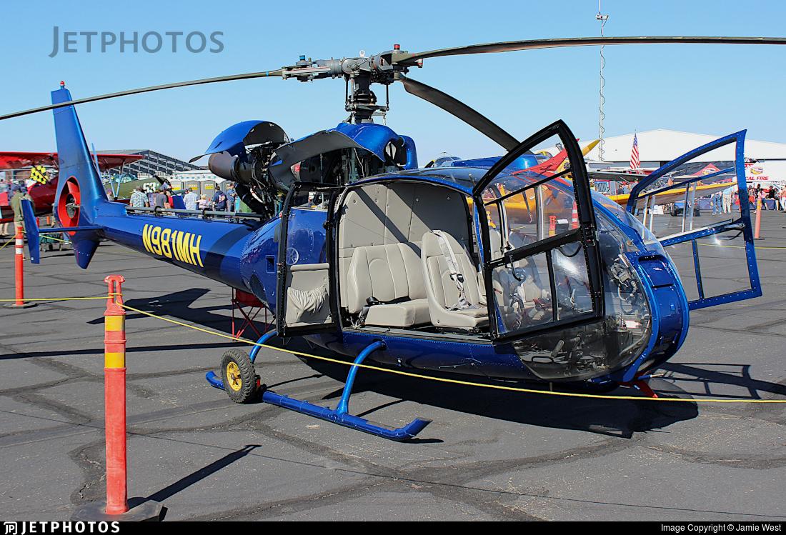 N981MH - Aérospatiale SA 341F Gazelle - Private