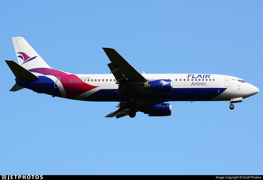 C-FLHE - Boeing 737-490 - Flair Airlines