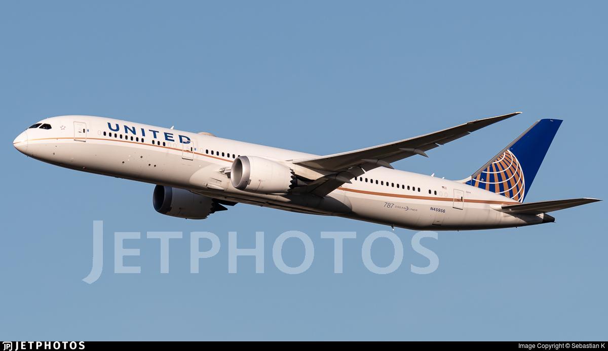 N45956 - Boeing 787-9 Dreamliner - United Airlines