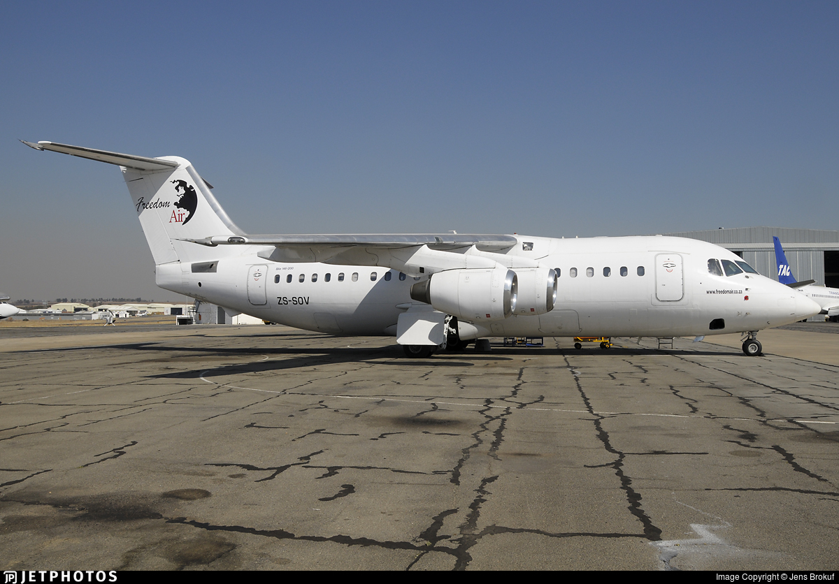 ZS-SOV - British Aerospace BAe 146-200A - Freedom Air