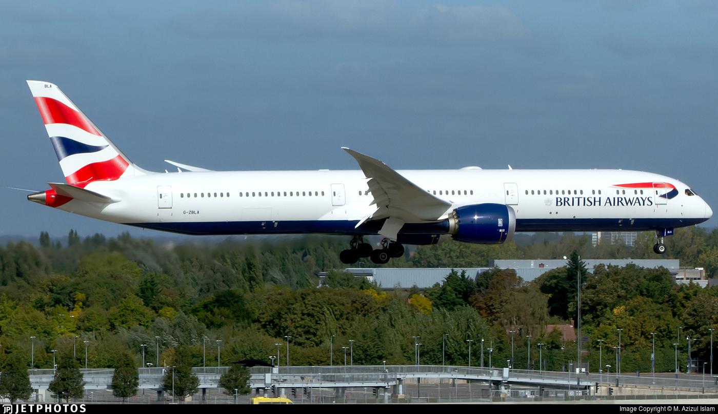 G-ZBLA - Boeing 787-10 Dreamliner - British Airways