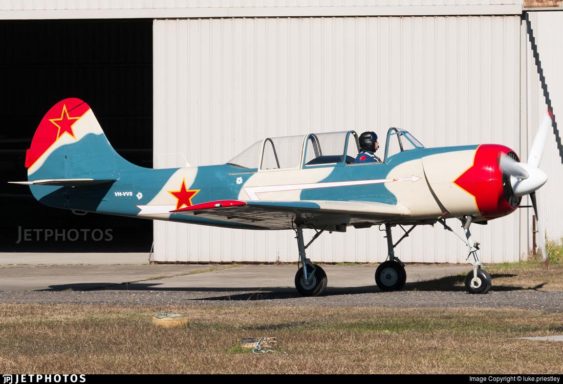 VH-VVS - Yakovlev Yak-52 - Private