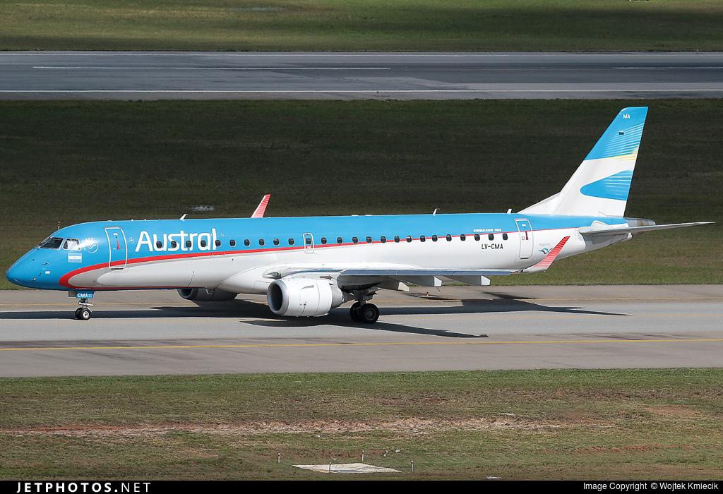 LV-CMA - Embraer 190-100IGW - Austral Líneas Aéreas