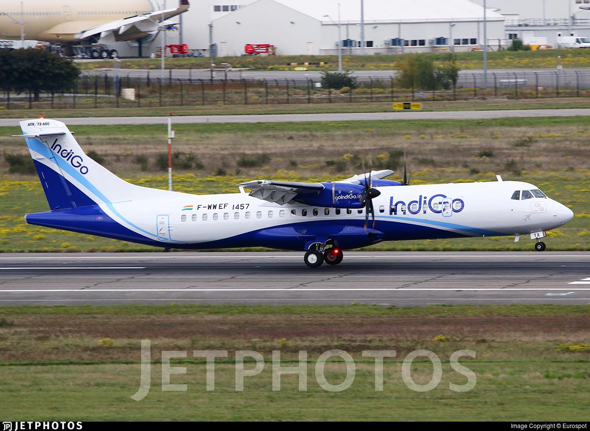 F-WWEF - ATR 72-212A(600) - IndiGo Airlines