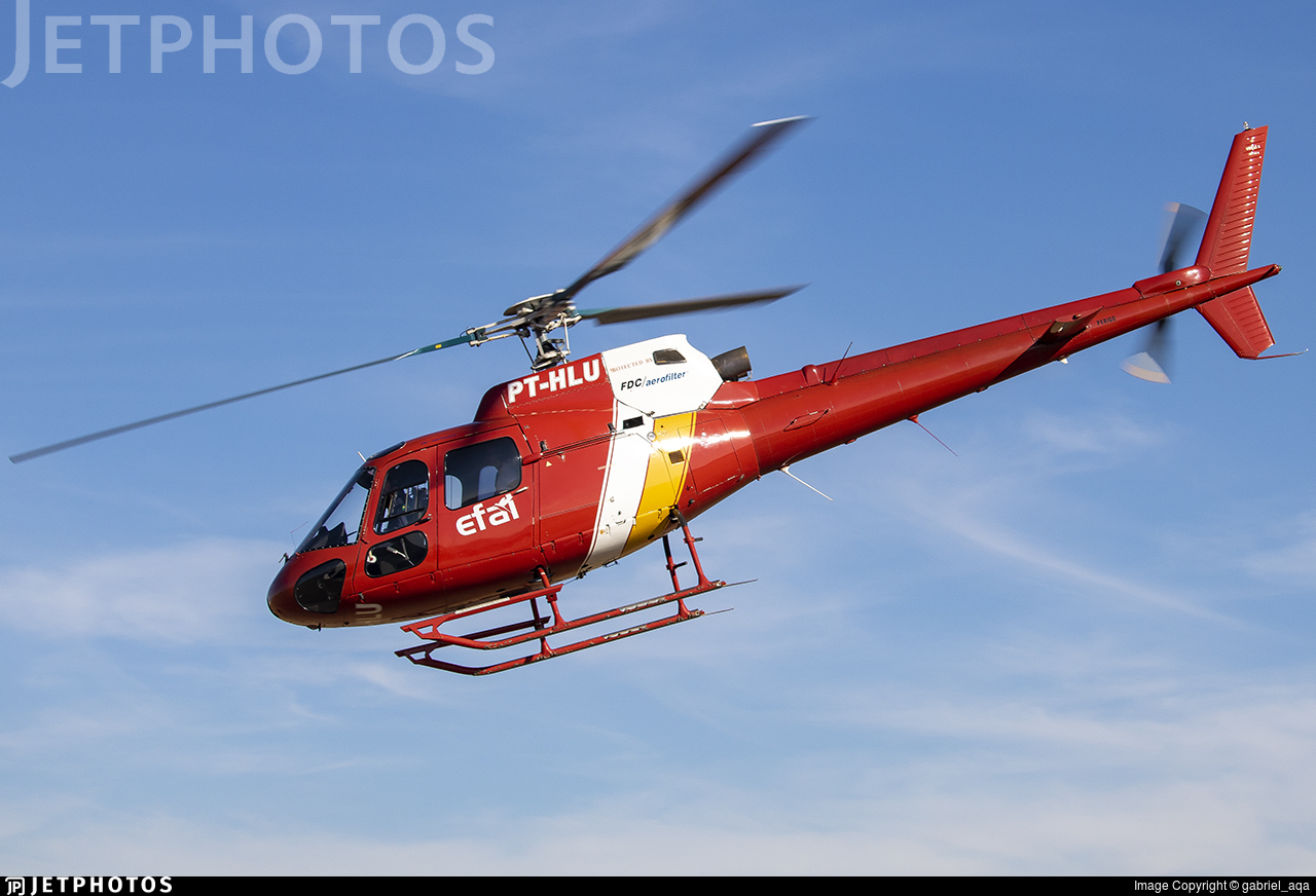 PT-HLU - Helibrás AS-350B2 Esquilo - Private