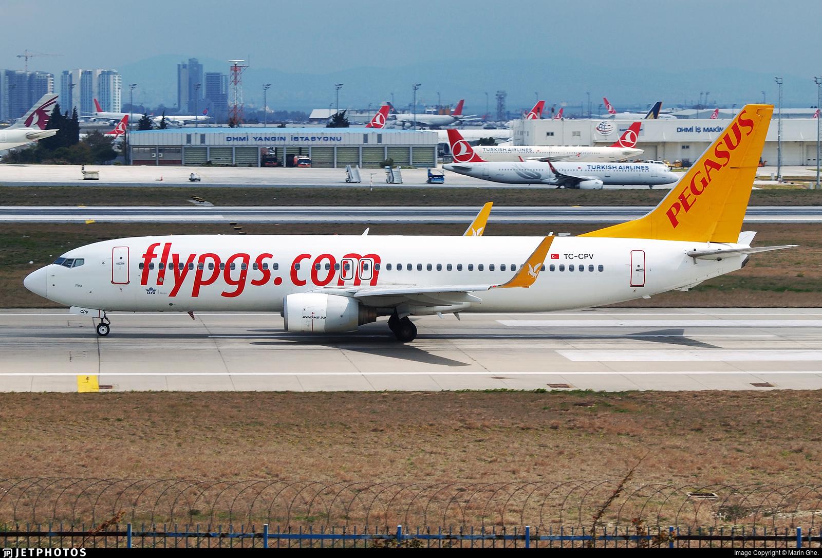 TC-CPV - Boeing 737-86J - Pegasus Airlines