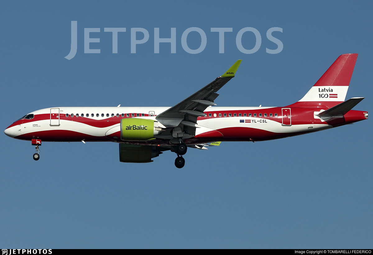 YL-CSL - Airbus A220-371 - Air Baltic