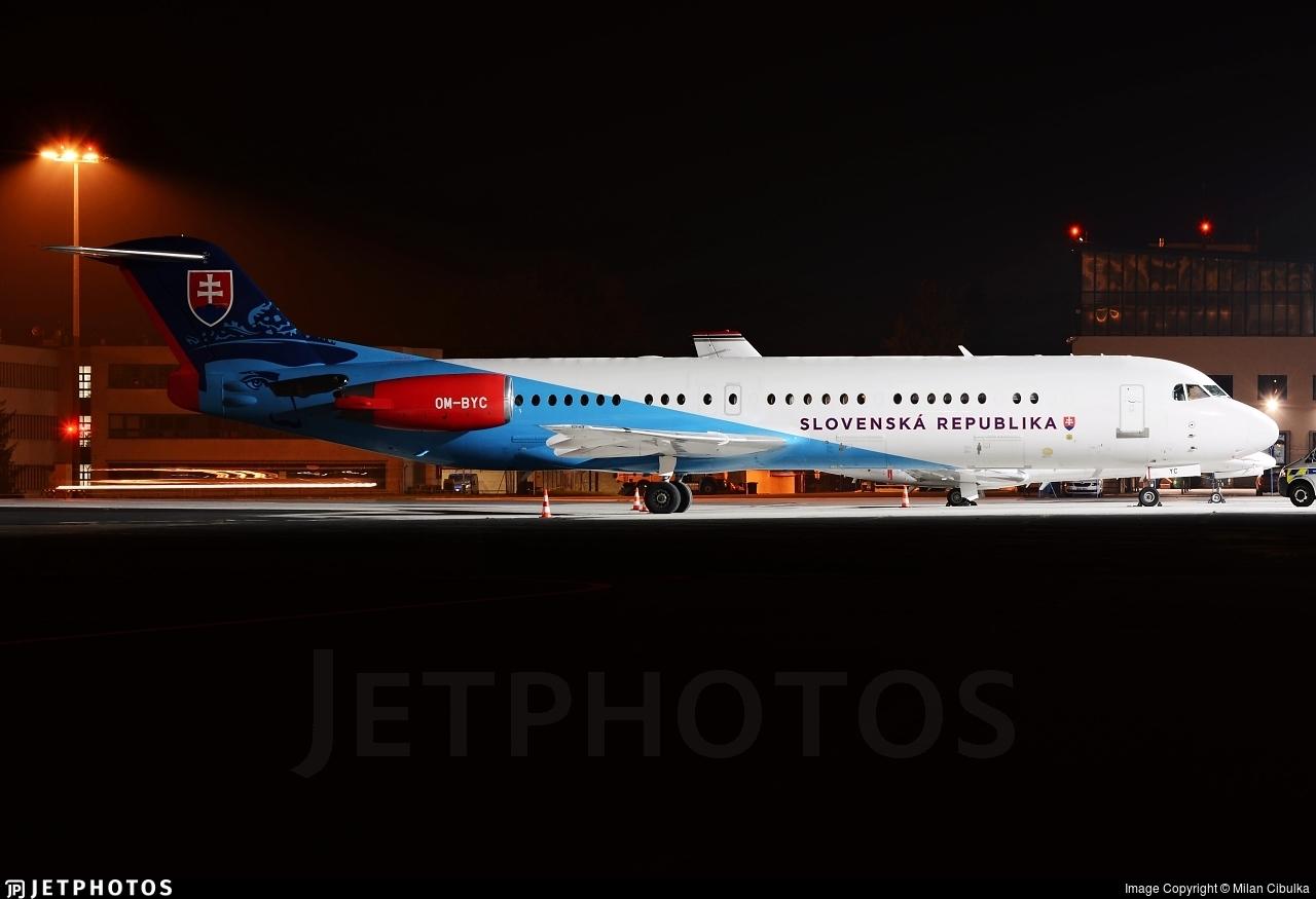 OM-BYC - Fokker 100 - Slovakia - Government Flying Service