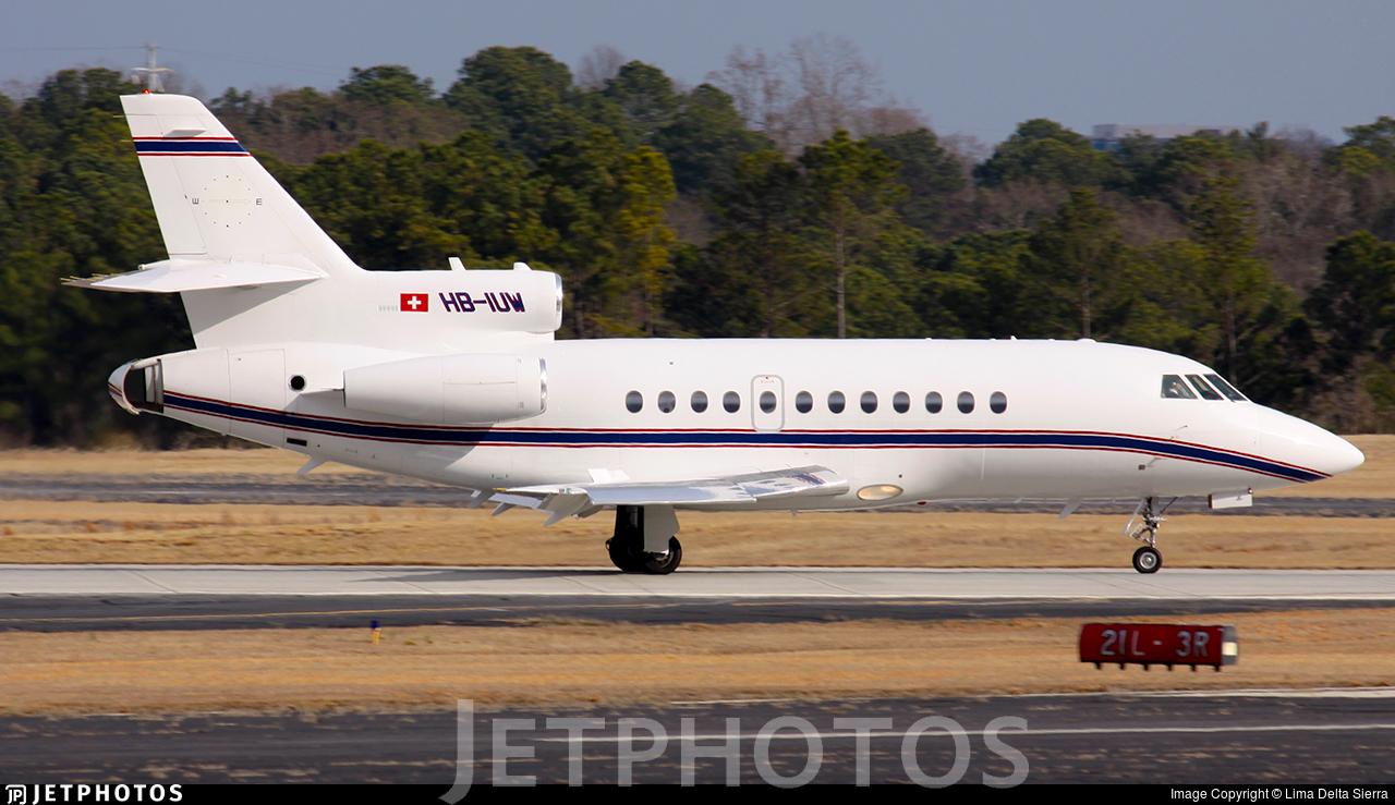 HB-IUW - Dassault Falcon 900B - Jet Aviation Business Jets