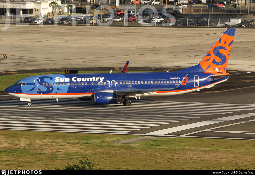 N815SY - Boeing 737-8BK - Sun Country Airlines